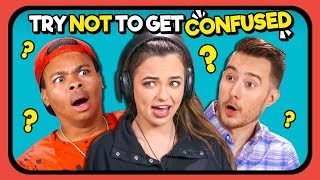 YouTubers React To Try Not To Get Confused Challenge #2