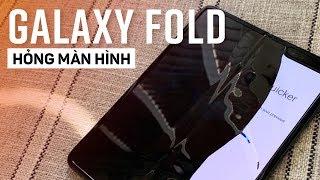 Galaxy Fold 40 triệu sau 2 ngày hỏng màn hình