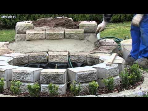 Kleine Wasserfall Im Garten Bauen.Video 1