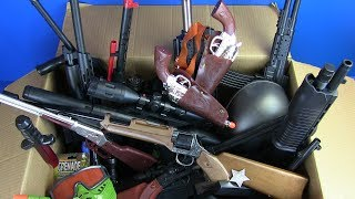 BOX OF TOYS ! Guns Toys for Kids Military ,Police &Western Cowboy Toy Gun