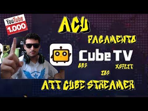 O QUE É ACU ? COMO RECEBER PELA CUBE TV ? / OBS / XSPLIT ATT 6.0