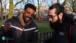 Muslim brings more ahadith on praying to Muhammad! Speakers Corner