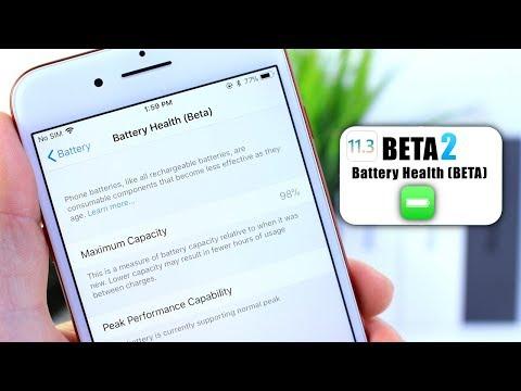 iOS 11.3 BETA 2   Apple's New Battery Health (Beta) Feature
