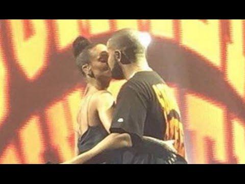 Rihanna Kisses Drake In Miami