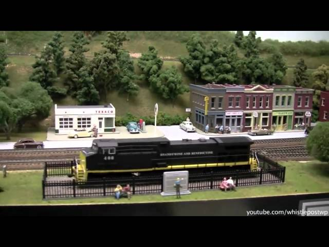 Large HO Basement Model Railroad Layout