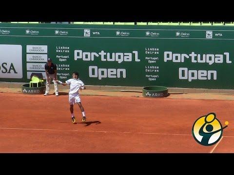 Momentos finais Rui Machado x Dmitry Tursunov - Portugal Open 2014