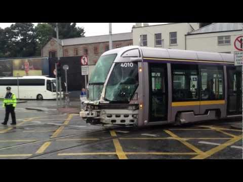 Luas Crash Dublin - September 10th 2012