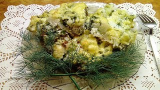 Цветная капуста запеченая в духовке с яйцом сыром. Рецепты на скорую руку.