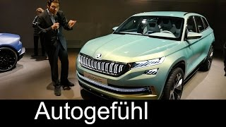 Skoda Vision S Concept REVIEW new Skoda Kodiaq SUV on Tiguan platform - Autogefühl