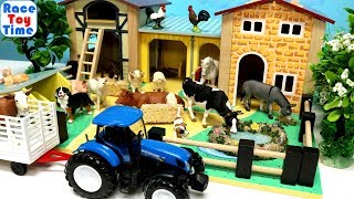 Fun Farm Animals Barn Stable Playset and Animal Toys
