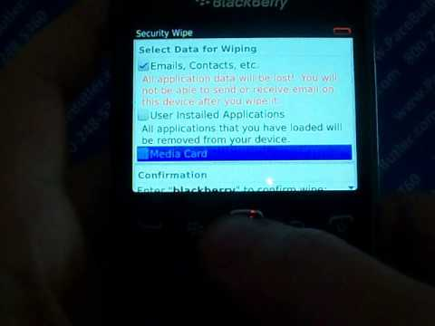 Blackberry Curve 9360 Master Reset Cell Phone Data Erase
