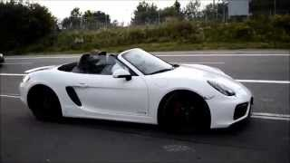 NEW Boxster GTS: START-UP, ACCELERATION and walk-around