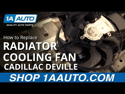 How To Install Repair Replace Radiator Engine Cooling Fan Cadillac Deville 94-99 1AAuto.com