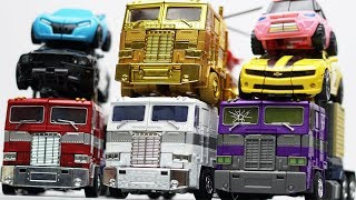 Full Transformers Stop motion - Optimus Prime, Bumblebee, Tobot Robot & Lego Robbery Car Kids Toys