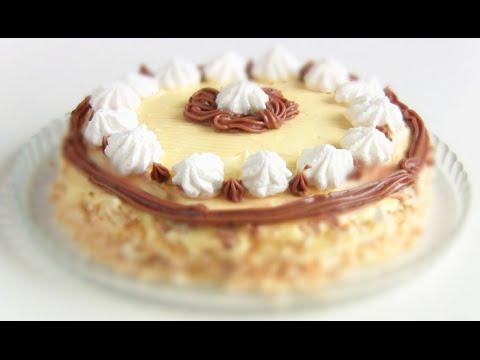 """ТОРТ """"ПОЛЕТ"""" по ГОСТу: Торт-Безе с масляным кремом"""