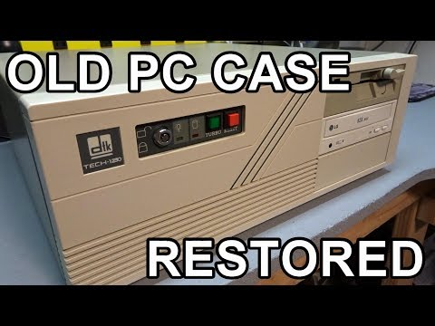 Restoring an old AT computer case