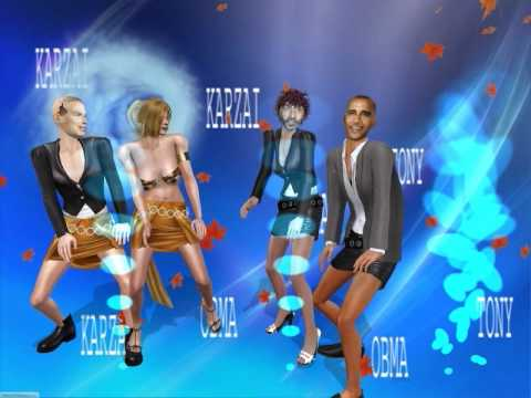 Karzai,Obama ,Tony  Funy  Dance 2010.AVI