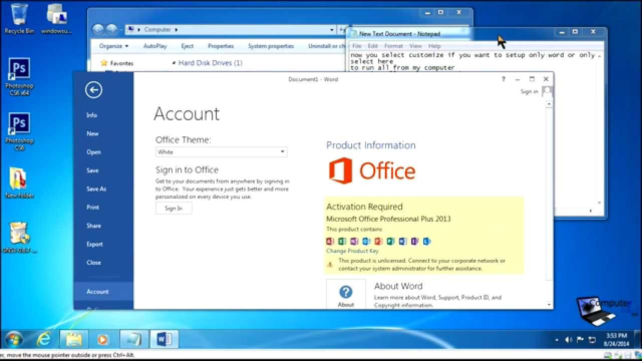 Install microsoft office 2010 2013 step by step youtube - Installer office 2010 sur windows 8 1 ...