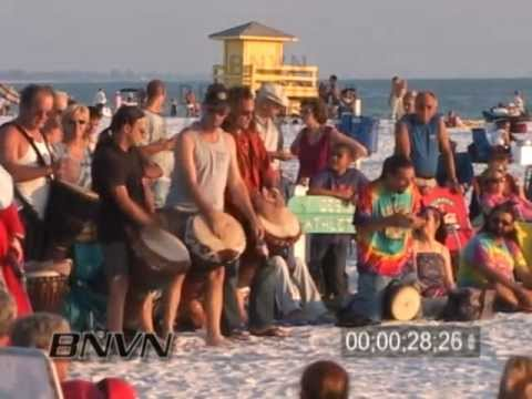 10/16/2005 Siesta Beach, Sarasota FL, Drum Circle Footage
