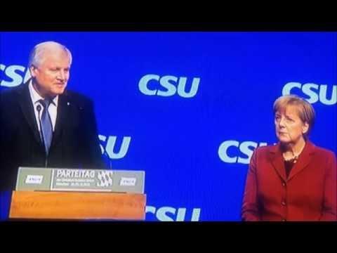 Horst Seehofer demütigt Angela Merkel - CDU/CSU Parteitag 20.11.2015