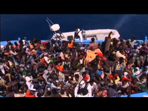 Migrants Rescued at Sea: Italy's border police saves hundreds of migrants