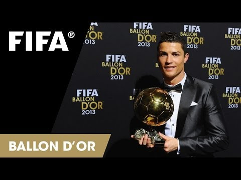 Cristiano Ronaldo: Fifa Ballon D'or 2013 Award Reaction video