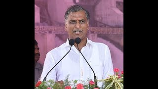 TRS Minister Harish Rao addresses public meeting at Siddipet LIVE