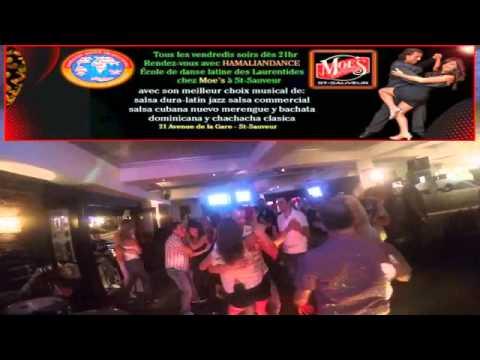 les vendredis salsa night au Moes st sauveur avec HAMALIANDANCE
