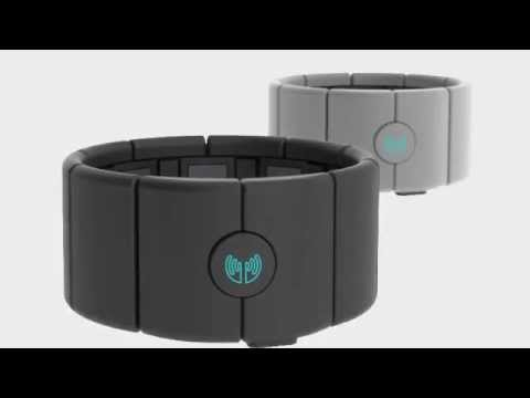 The MYO Armband is a gesture control device that you wear on your forearm. Unlike traditional motion