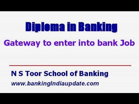 Diploma in Banking - A Gateway to Bank Job