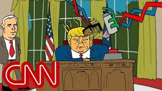Trump and the red button | Drawn by Jake Tapper