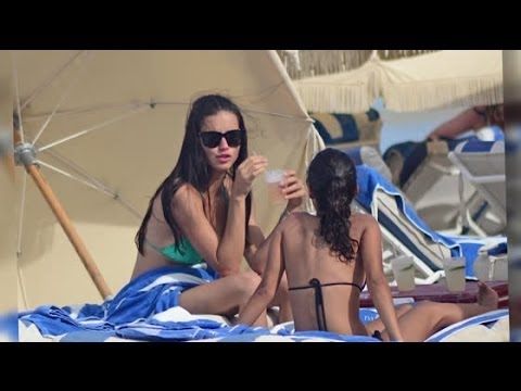 Adriana Lima Hits The Beach In Miami