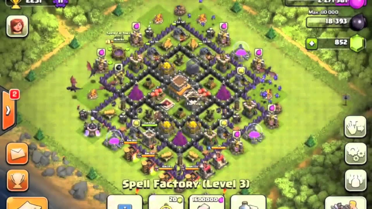 Clash of clans town hall 8 war base maxresdefault