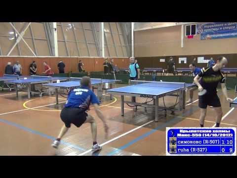СимоновС vs Ruha Настольный теннис Крылатские Холмы
