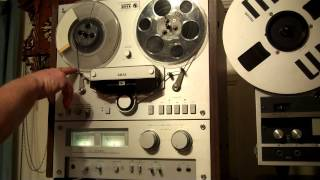 AKAI GX-266II Reel to Reel Operations Demo. ZCUCKOO