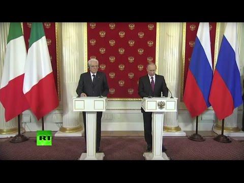 Пресс-конференция президентов России и Италии