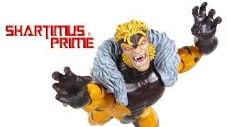 Marvel Legends Sabretooth X-Men Apocalypse BAF Wave Marvel Comics Action Figure Toy Review
