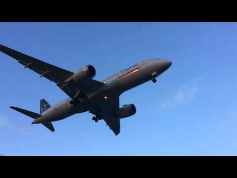 Air India (Star Alliance) landing at bhx (Slow Motion) (VT-ANU)