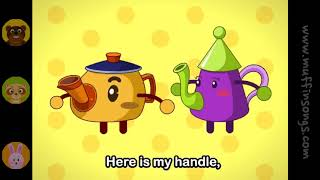 Muffin Songs   I'm A Little Teapot  nursery rhymes & children songs with lyrics  muffin songs