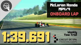 McLaren Honda MP4/4 (108.5) - 1:39.691 (❌ASSIST), Spa Francorchamps 🇧🇪 | REAL RACING 3