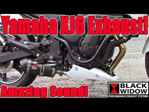 Black Widow Exhausts. Yamaha XJ6 / FZ6R.  Review. Install & sound comparison!
