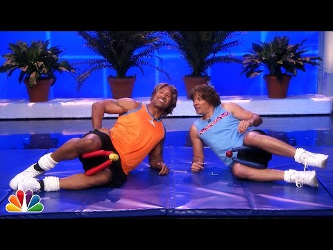 Jimmy Fallon & Dwayne Johnson's Workout Videos -- Part 1 video