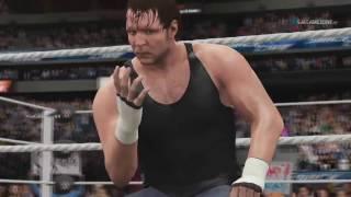 WWE Smackdown Live 2016 - Dean Ambrose VS AJ Styles Full Match HD