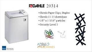 Dahle 20314 Cross Cut Paper Shredder - Tour