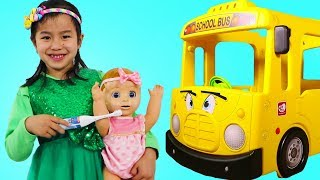 Jannie Pretend Play Morning School Routine w/ Baby Doll Toy – Learn Counting Numbers