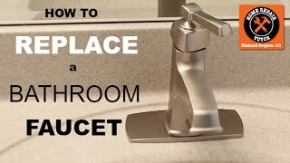 (19.5 MB) How to Replace a Bathroom Faucet  (Moen Single Handle Faucet Install) Mp3