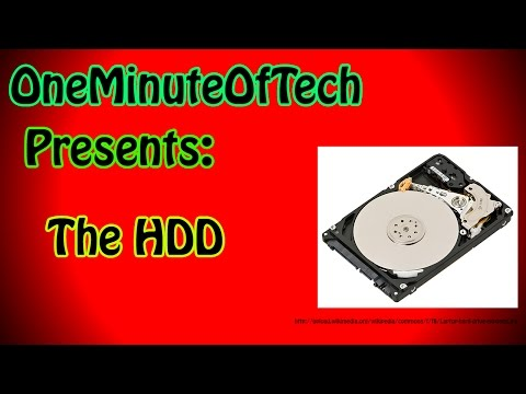 Tech in 1 Minute - The Hard Disk Drive (HDD)