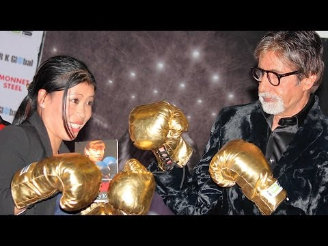 Amitabh Bachchan Takes Boxing Tips From Mary Kom!