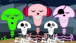 dez na cama | berçário rima | Ten In The Bed | Haunted House Português | Desenhos animados