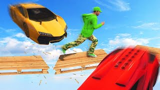 RUN BEFORE THE PLATFORM BREAKS! (GTA 5 Funny Moments)